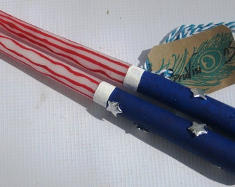 Patriotic candles, Independence Day candles, July 4th candles, Veterans candles, USA candles, American flag candles, America candles