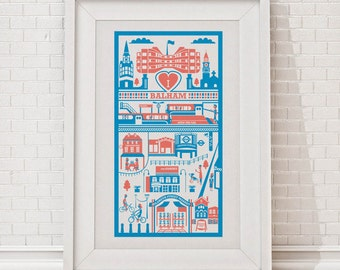 Balham print / London illustration / Balham illustration / London print