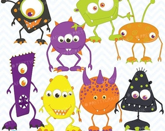 80% OFF SALE Monster clipart commercial use, vector graphics, digital clip art, digital images - CL392