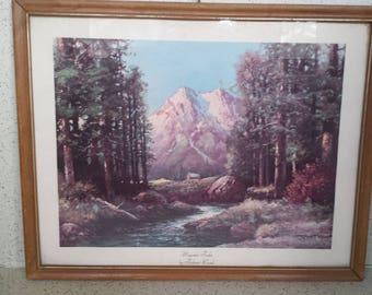 Framed Litho Majestic Peaks Robert Wood