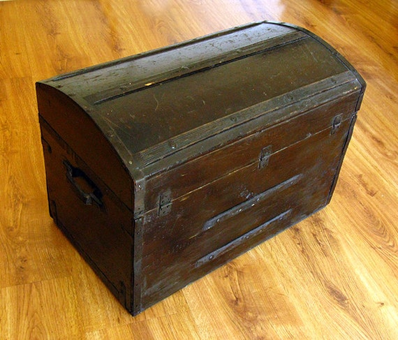 Antique Civil War Or Earlier Antique Chest Furniture Trunk Old Wood 1800 39 S Pick Up Only