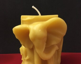 Elephant pillar candle