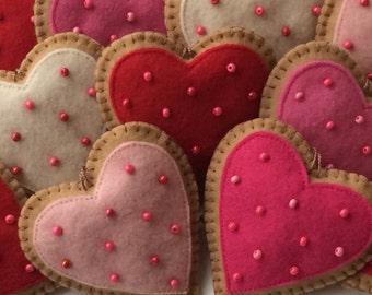 Ginger Cookie Valentine Ornaments-Valentine Ornament-Heart Ornaments-Valentine Cookies-Valentine Decorations-Valentine's Day Decorations