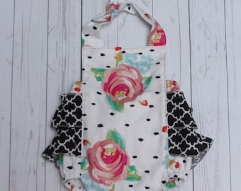 Floral Boutique Style Romper - Spring Romper - NB-2T