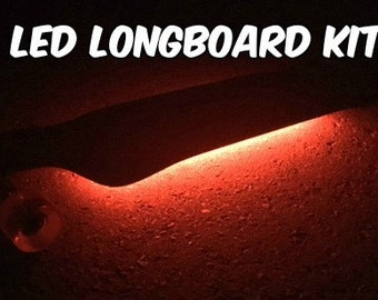 LED Longboard Kit Battery Powered 5050 20 Color Options 19 Modes Light Strip