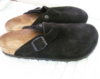 Black Birkenstock Suede Sandal Mule Clog 42