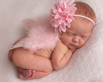 FREE Shipping! Newborn Photo Prop Angel Feather Wings, Newborn Baby Wings, Baby Girl Photo Prop, Boy Angel Wings, Pink Wings