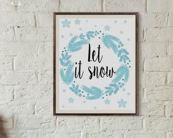 winter home decor | etsy
