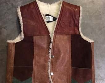 Leather Patchwork Vest