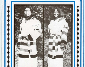 Indian, Frontier Style Blanket Capote - Frontier Coat - Men & Women - Eagle's View Sewing Pattern