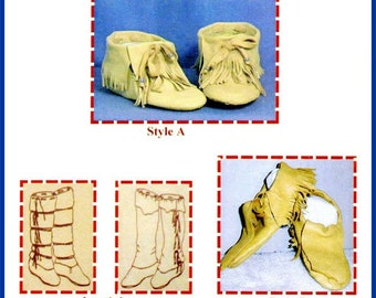 Native American Sioux Indian Traditional Moccasin & Leggings Sewing Pattern by SparrowHawk