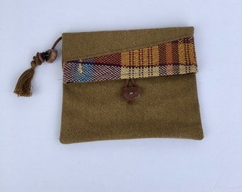 Handwoven Foldover Clutch Bag/Cairn Clutch Series