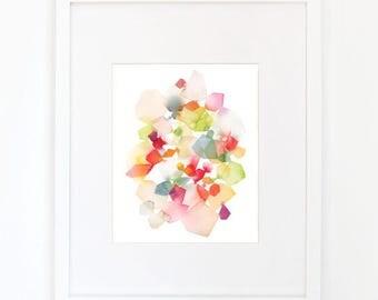 Waltz in Apple Green - Watercolor Art Print