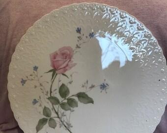 Mikasa bone china cake plate:  April Rose