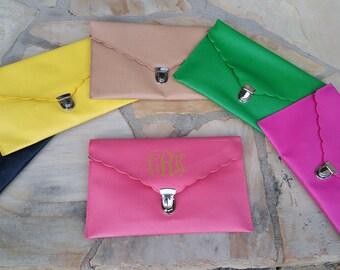 Monogrammed Clutch/Envelope Clutch/ Cross Body Bag/ Shoulder Bag