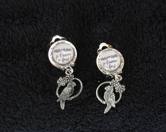earring MOM I love you very much