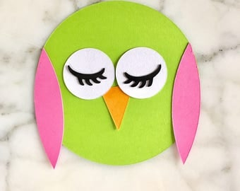 8 Owl Cutouts - Owl Diecuts - Owl Baby Shower Decorations - Owl Garland