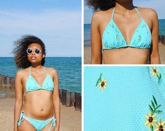 Blue Daisy Bikini
