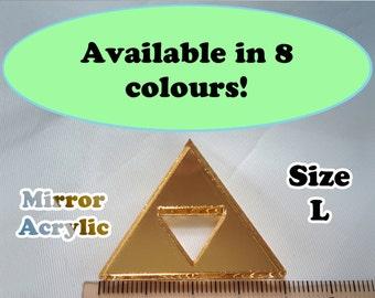 Sierpinski Triangle Laser Cut Mirror Acrylic Cabochons Supplies