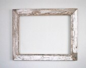 18 x 24 Weathered White Cottage Siding Wood Frame,  Reclaimed, Re-purposed, Rustic, One-of-a-kind