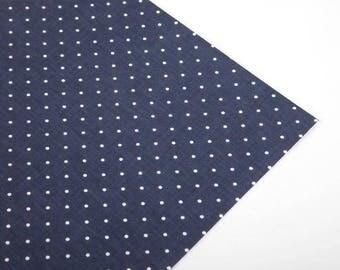White Polka Dots on Navy Fabric Sticker Sheet - Dailylike
