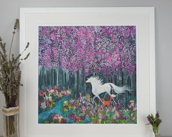 Into the Blossom - Hand Illustrated Limited Edition Giclee Print