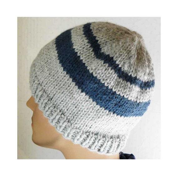 Mens Knit Beanie Pattern : Knitting PATTERN Knit Beanie Pattern Mens Knit Hats