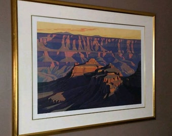 Ed Mell Print - Shadows on South Rim Grand Canyon - Signed & Numbered 6/200