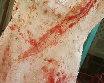 """Dexter Blood Splatter """"Carrie"""" Prom Dress"""