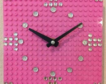 Pink LEGO Clock