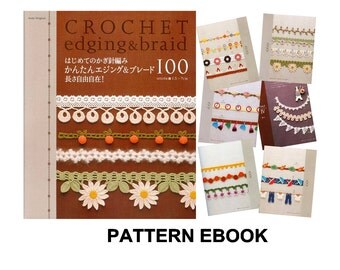 PDF crochet pattern, Japanese eBook, Crochet Edging & Braid, No.019