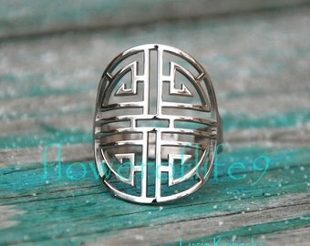 Lu ring- Chinese symbol of wealth - Stainless Steel