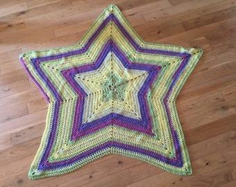 Star crocheted blanket