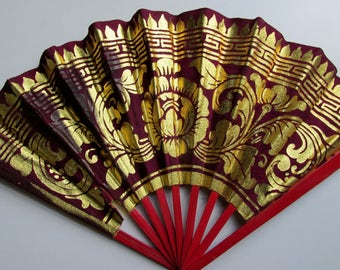 Silk Fan with Bamboo