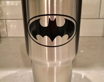 Batman Decal ~ Vinyl Decal ~ Yeti decal ~ Tumbler Decal ~ personalization ~ Decal Only