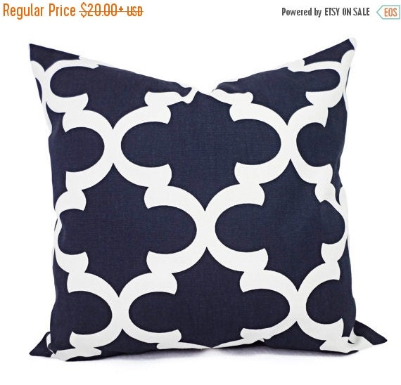 15% OFF SALE Decorative Pillows Two Navy by CastawayCoveDecor