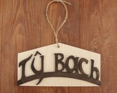 """Ty bach sign. In Welsh meaning """"Little house"""" and toilet"""