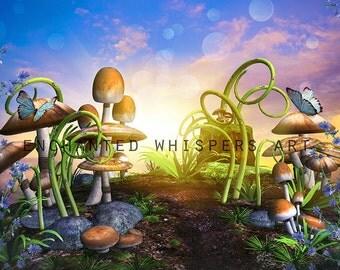 digital background, fairy backdrop, fantasy backdrop, photography background, premade background, photoshop background, stock background