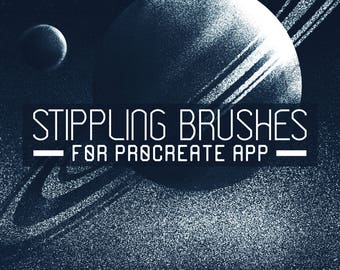 Stippling Procreate Brushes - Shading brushes - Set of 10 - For the iPad app Procreate - Digital brushes - Digital art resources