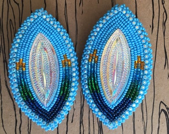 Beaded Nature River Valley Earrings