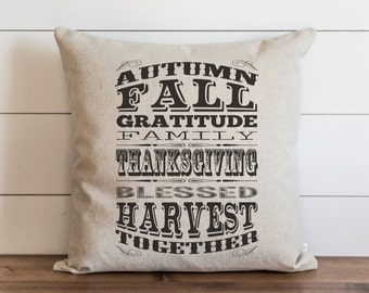 Autumn 20 x 20 Pillow Cover // Everyday // Thanksgiving // Fall // Autumn // Throw Pillow // Gift  // Accent Pillow // Cushion Cover