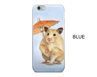 Hamster cell phone case, hamster phone case for iPhone 5, iPhone 5S, iPhone 5 SE, iPhone6/ 6S, iPhone6 / 6S Plus, iPhone 7/ 7 Plus, art