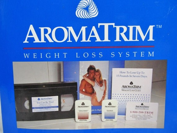 AromaTrim Weight Loss System Aromatherapy, Instructional VHS Video & Booklet 1995 in original box Vintage Health For Men or Women (Adults)