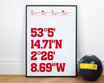 Crewe Alexandra Football Stadium Coordinates Posters