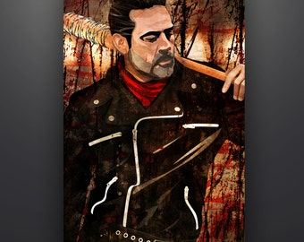 "The Walking Dead Inspired ""Negan"" 11X17 Fine Art Print Lucille *Larger Sizes Available*"