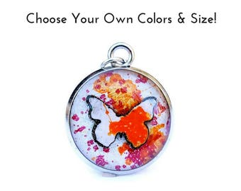 Jewelry Butterfly Resin Pendant Gift for Her Made to Order Charm YW in Excellence Value Colors