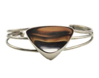Silver Cuff Bracelet, Silver Wire Cuff Bracelet, Silver Triangle Cuff Bracelet, Silver Wire Bracelet