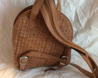 On hold for Laren H. New Old Stock Vintage Woven Leather Backpack