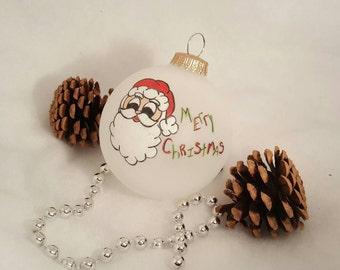 Santa Christmas Ornament / Xmas Ornaments / Christmas Ornament Handmade / Christmas / Christmas Tree Ornaments / Xmas Decorations / Santa
