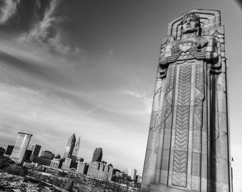 Lorain–Carnegie Bridge and Cleveland Skyline // Fine Art Photography // Giclée Print